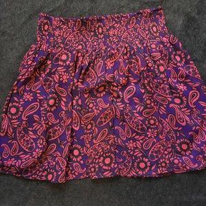 3 for $15 Paisley print chiffon skirt
